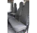 VW Crafter van seat covers anthracite cloth fabric